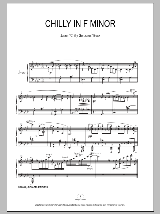 Chilly In F Minor sheet music