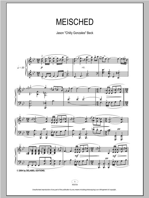 Meisched sheet music