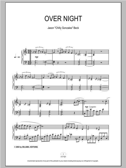 Over Night sheet music