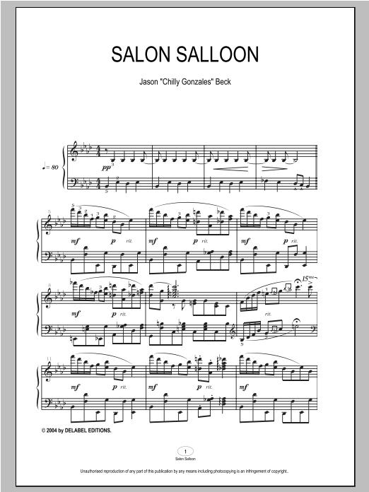 Salon Salloon sheet music