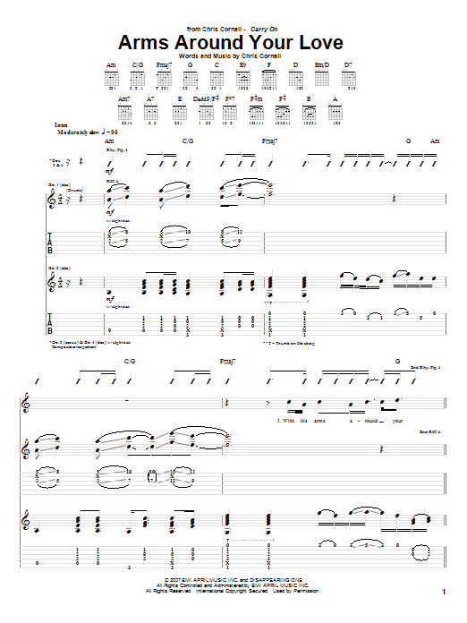 Arms Around Your Love sheet music