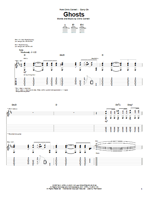 Ghosts sheet music