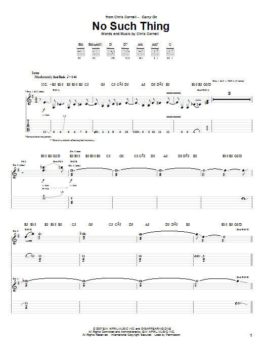 No Such Thing sheet music