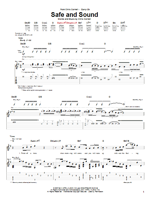 Safe And Sound sheet music