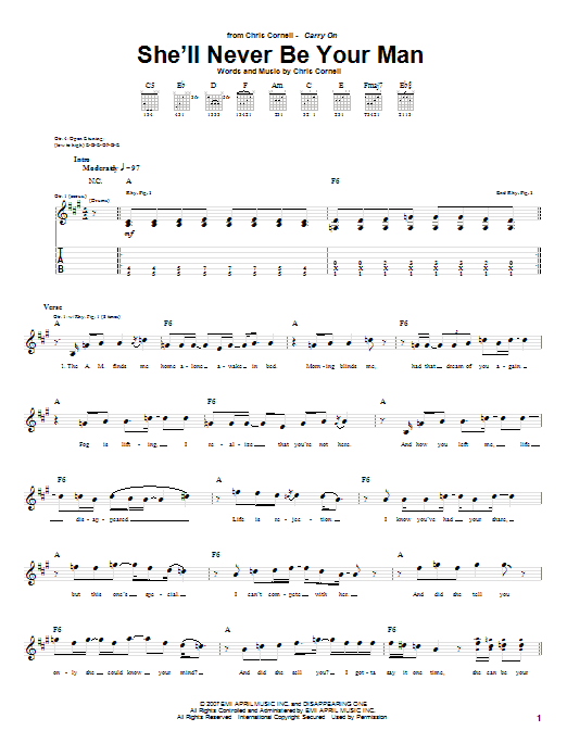 She'll Never Be Your Man sheet music