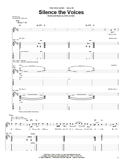 Silence The Voices sheet music