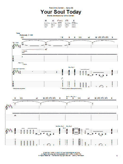Your Soul Today sheet music