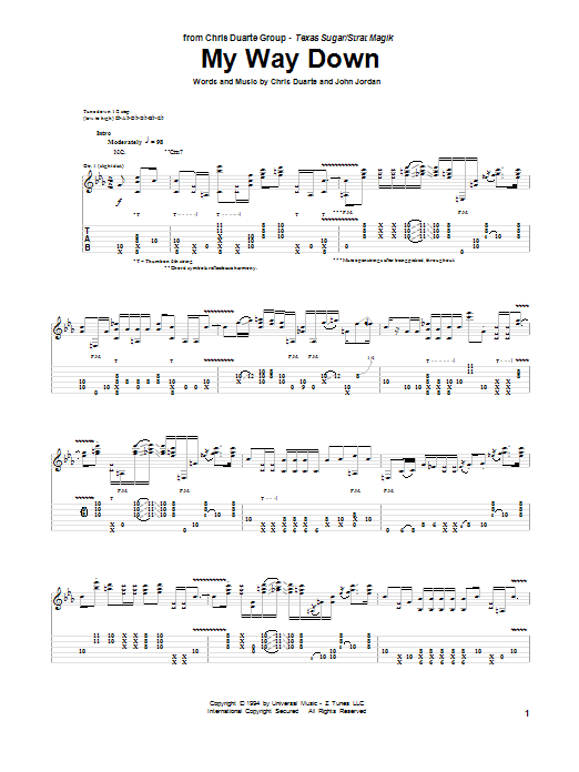 My Way Down sheet music