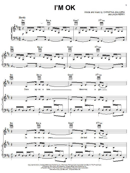 I'm OK sheet music