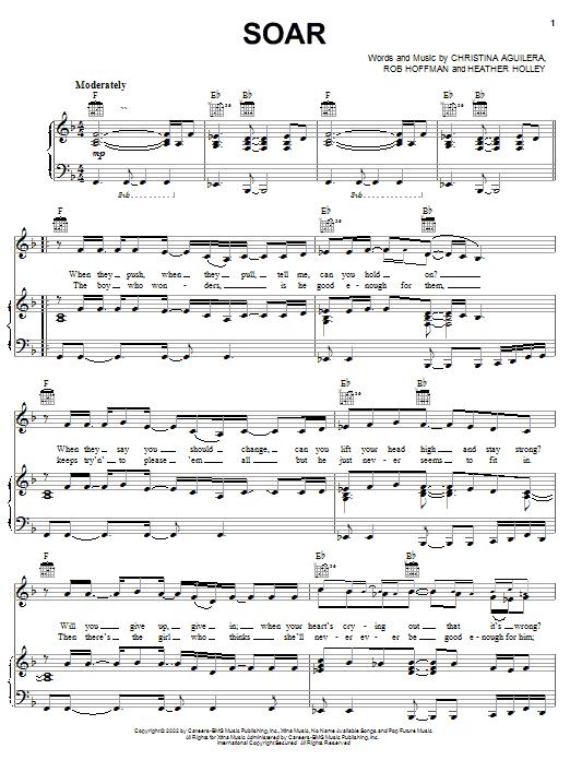 Soar sheet music