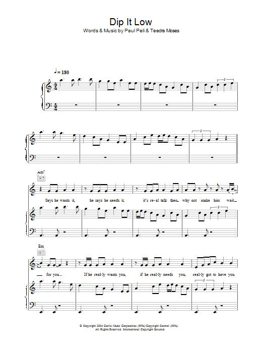 Dip It Low sheet music