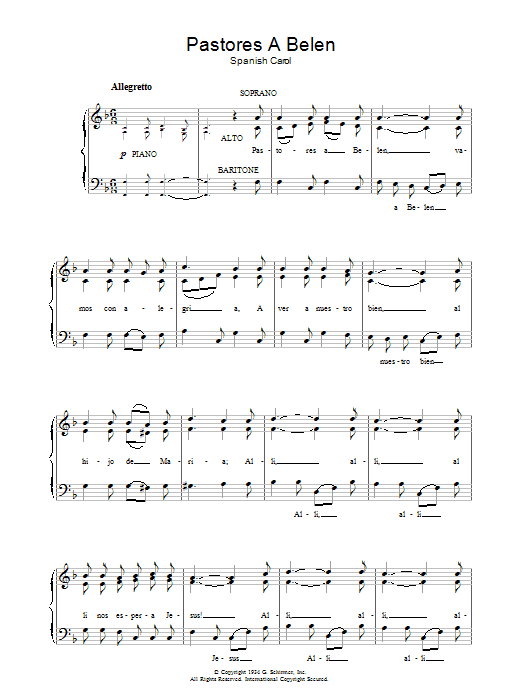 Pastores A Belen sheet music