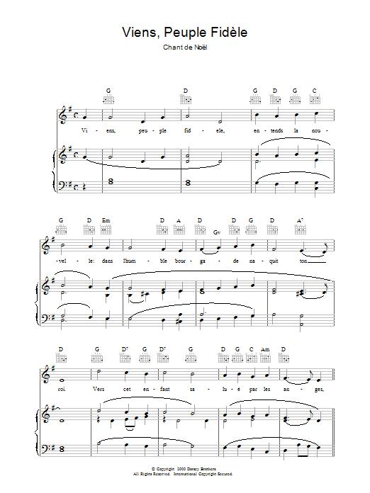 Viens, Peuple Fidèle sheet music