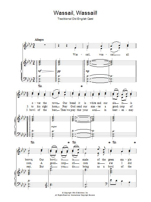 Wassail! Wassail! sheet music