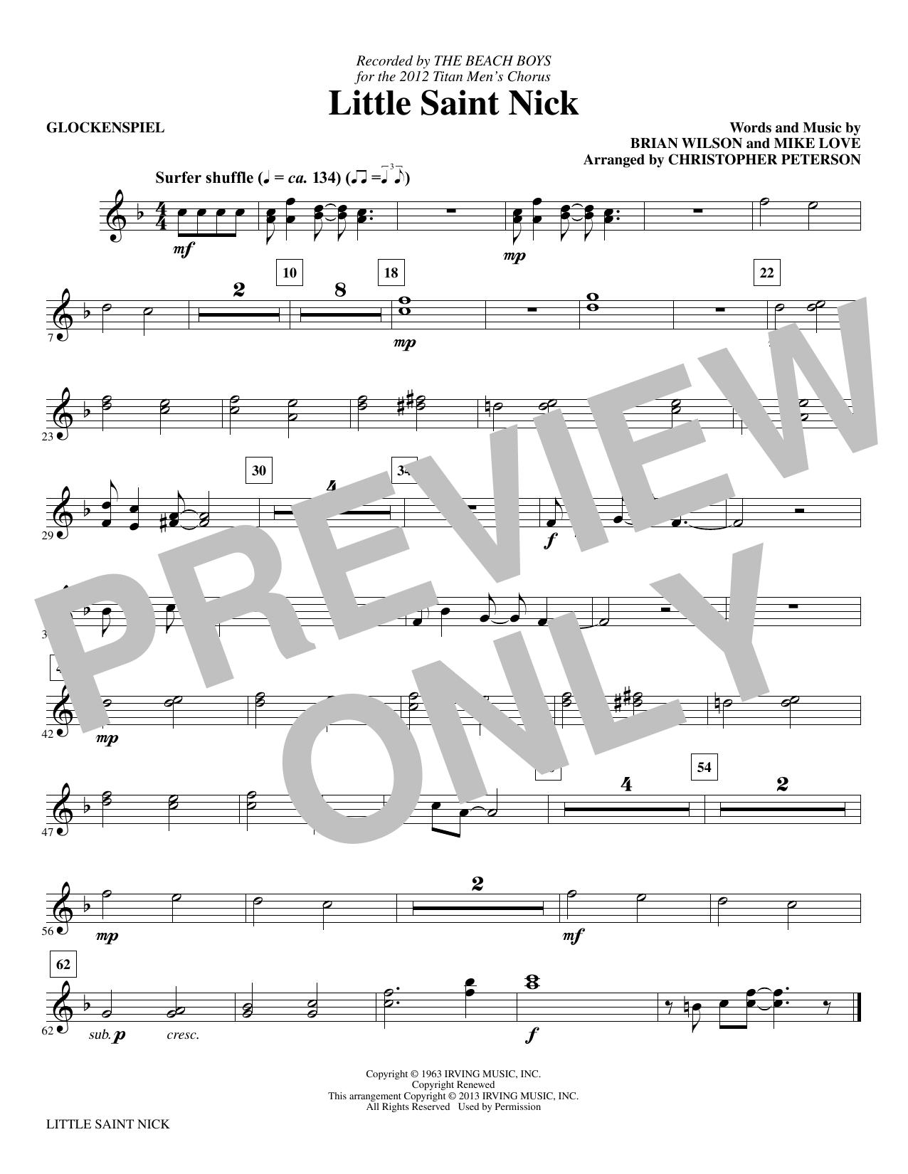 Little Saint Nick - Glockenspiel sheet music
