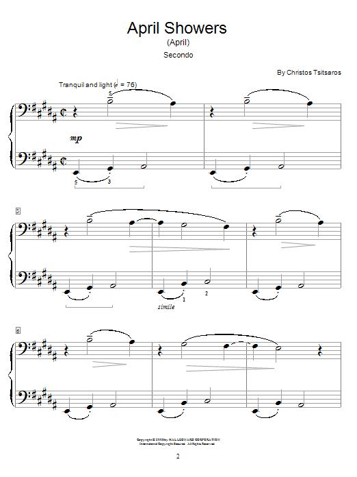 April Showers (April) sheet music