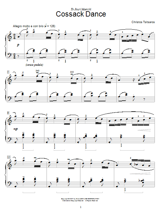 Cossack Dance sheet music