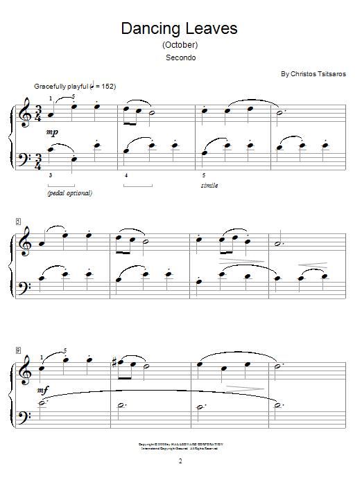 Dancing Leaves (October) sheet music