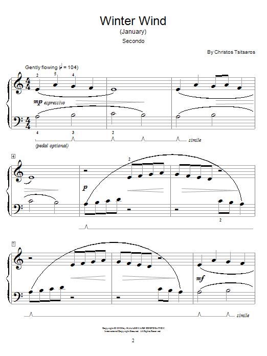 Winter Wind (January) sheet music