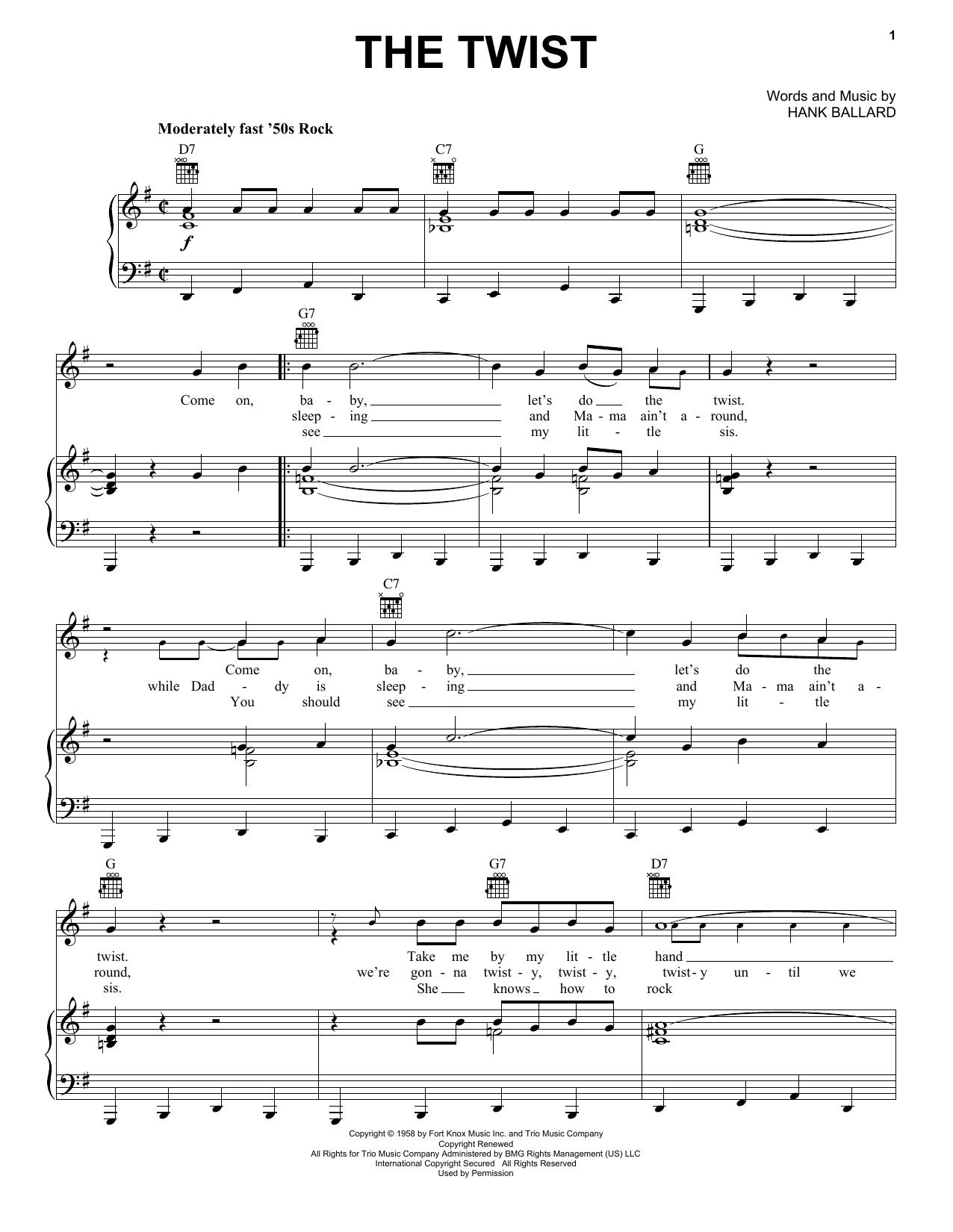 The Twist sheet music