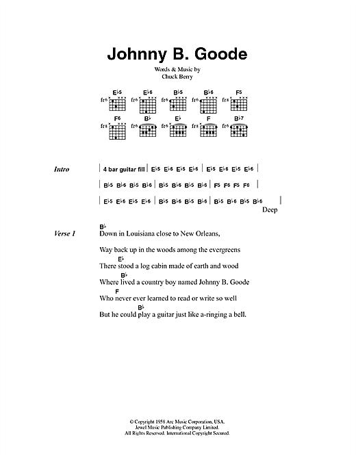 Johnny B. Goode sheet music