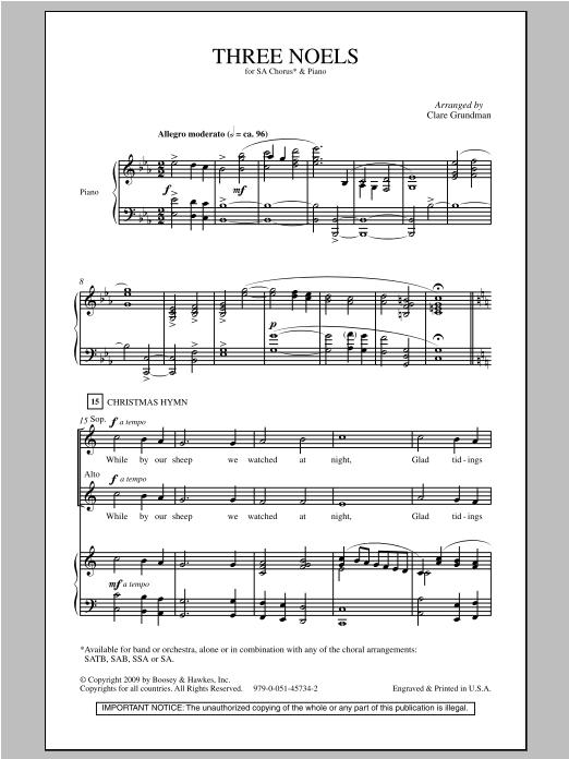 Three Noels sheet music