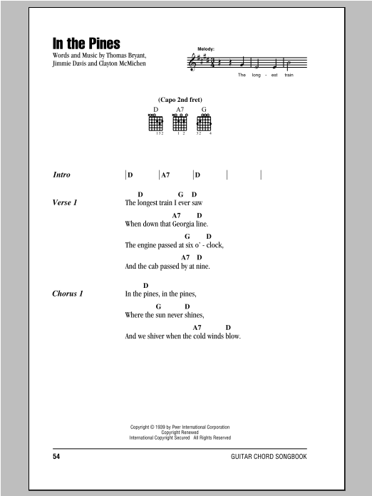 In The Pines sheet music