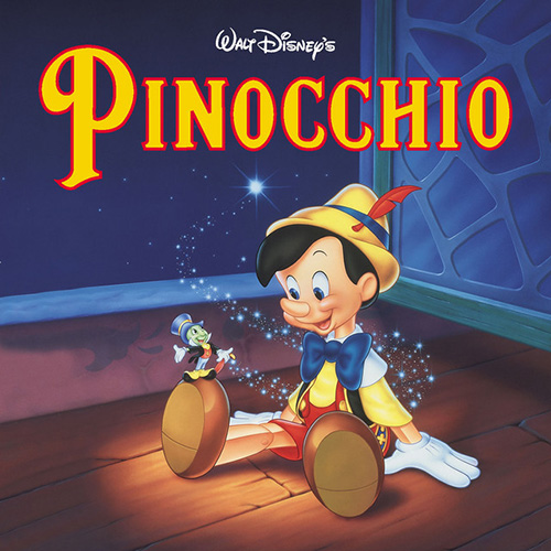 Cliff Edwards, When You Wish Upon A Star (from Disney's Pinocchio), Piano, Vocal & Guitar (Right-Hand Melody)