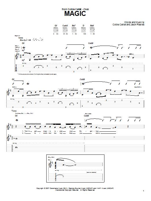 Magic sheet music