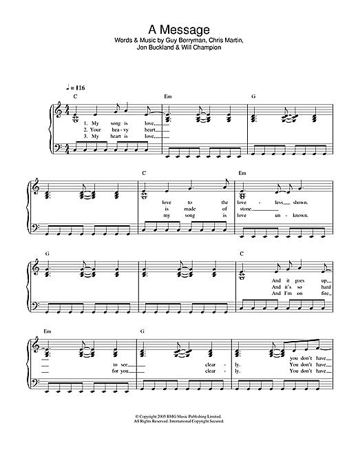 A Message sheet music