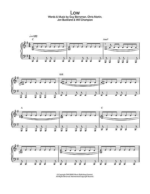 Low sheet music