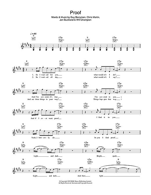 Proof sheet music