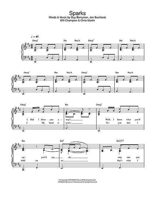 Sparks sheet music