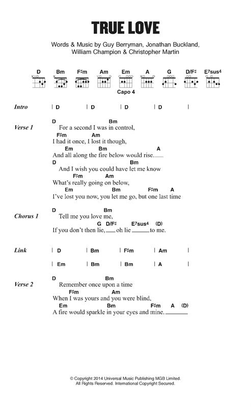 True Love sheet music