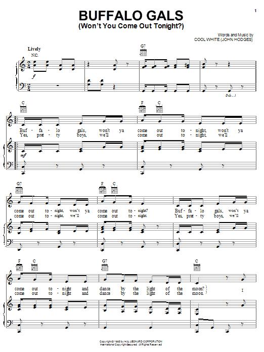Buffalo Gals (Won't You Come Out Tonight?) sheet music