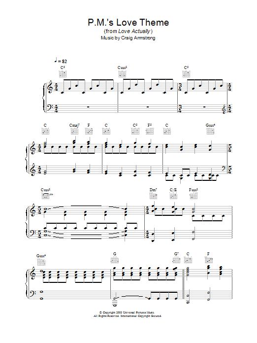 P.M.'s Love Theme sheet music