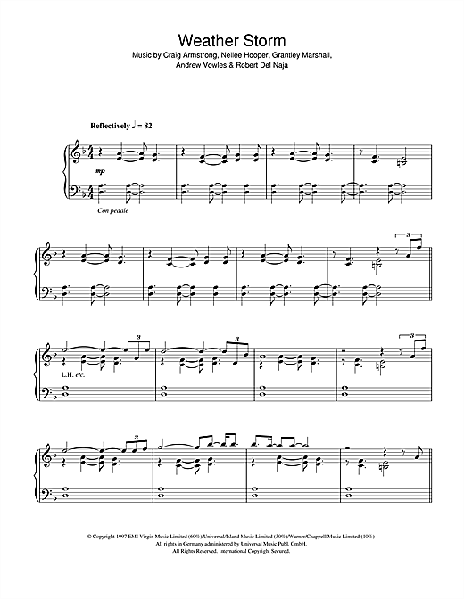 Weather Storm (Piano Works version, 1994) sheet music