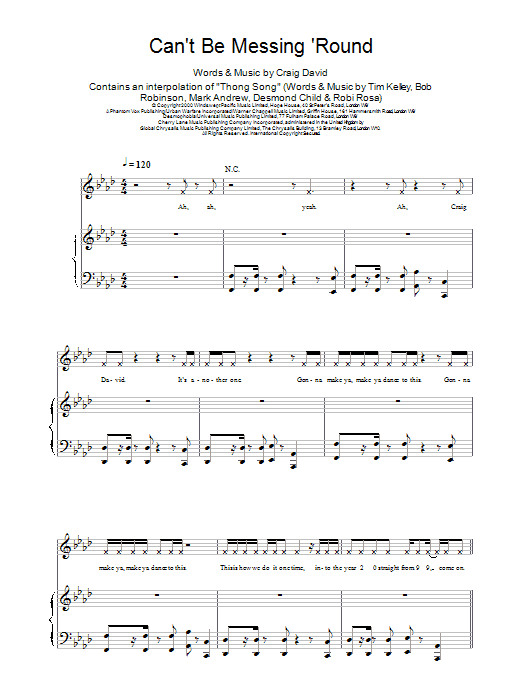 Can't Be Messing 'Round sheet music