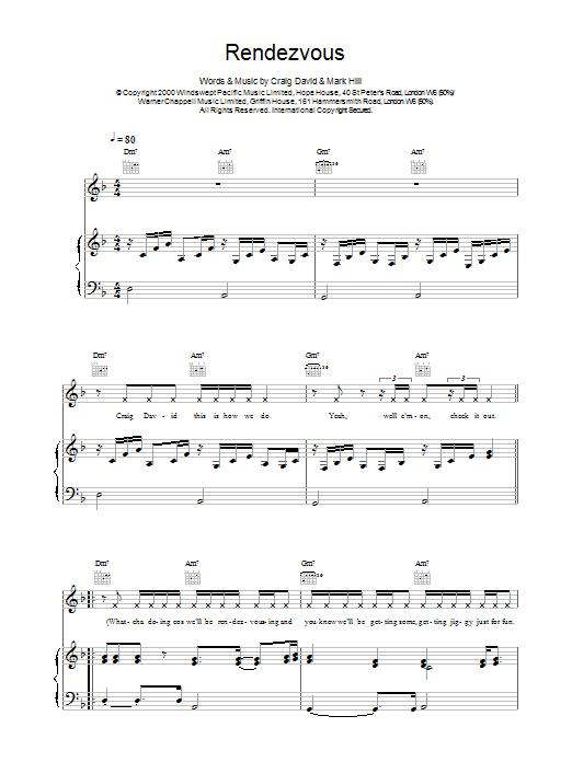 Rendezvous sheet music