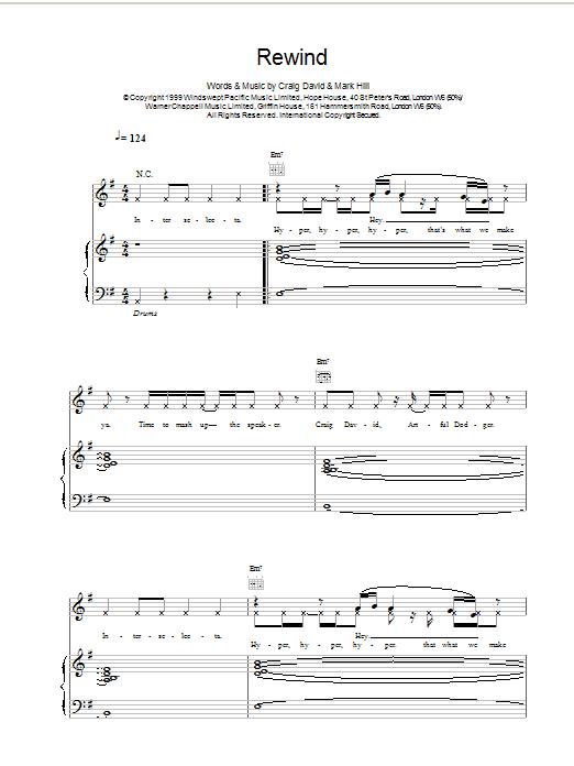 Rewind sheet music