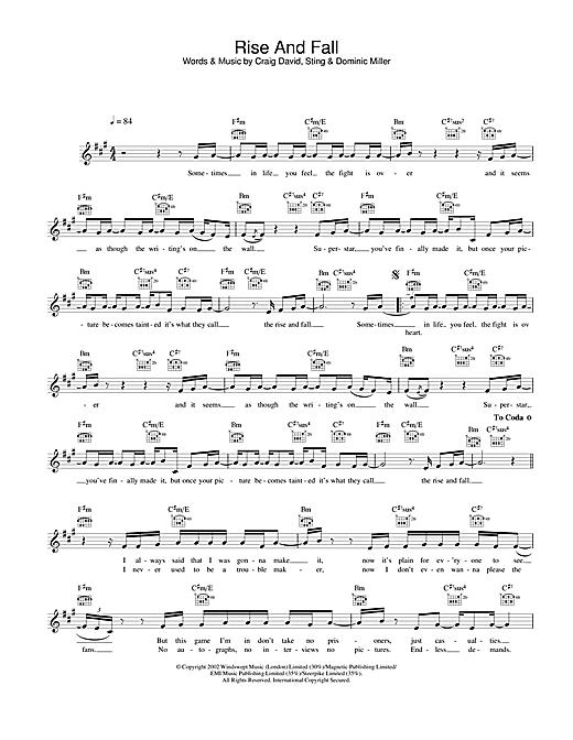 Rise And Fall sheet music