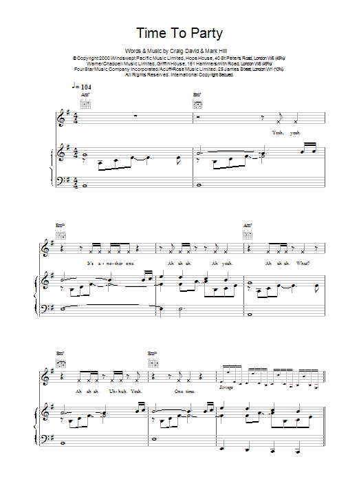 Time To Party sheet music