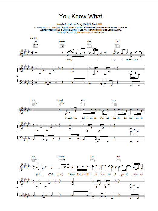 You Know What sheet music