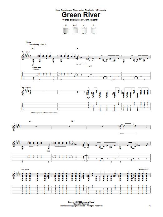 Green River sheet music