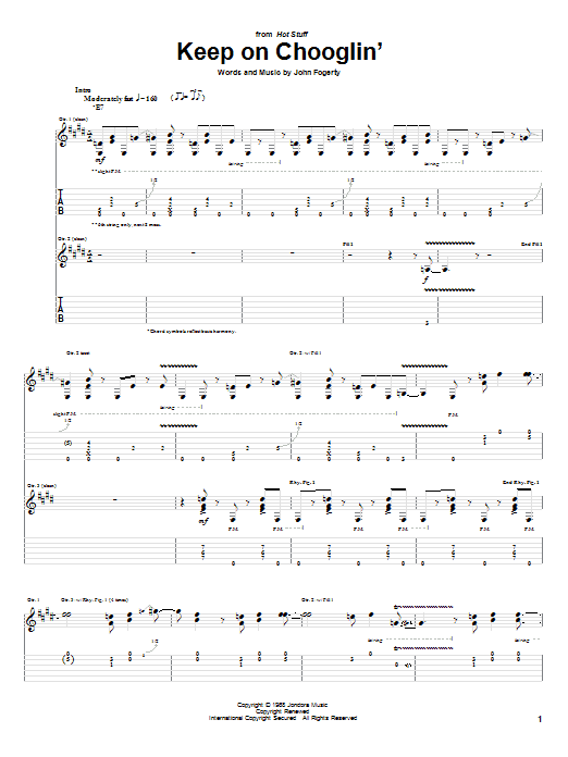 Keep On Chooglin' sheet music
