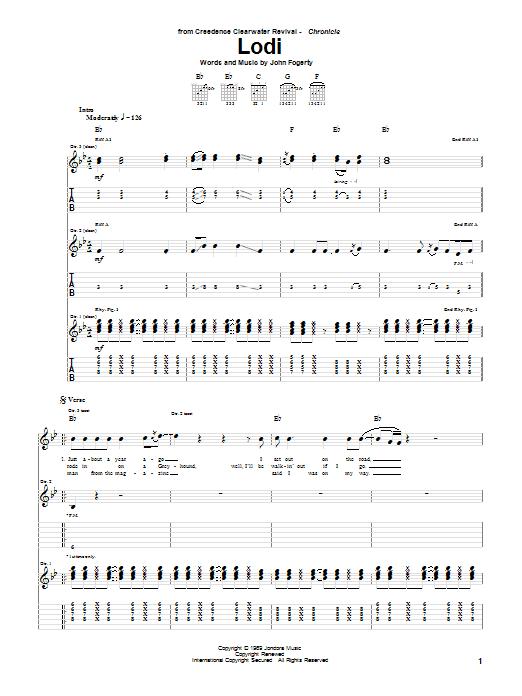 Lodi sheet music