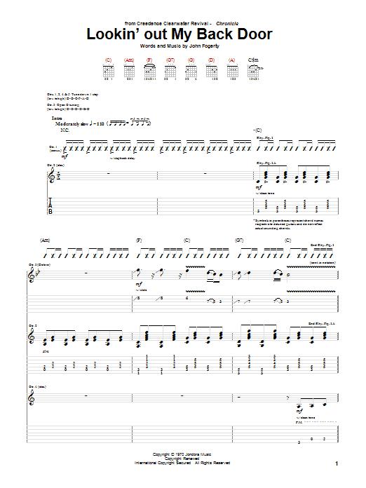 Lookin' Out My Back Door sheet music