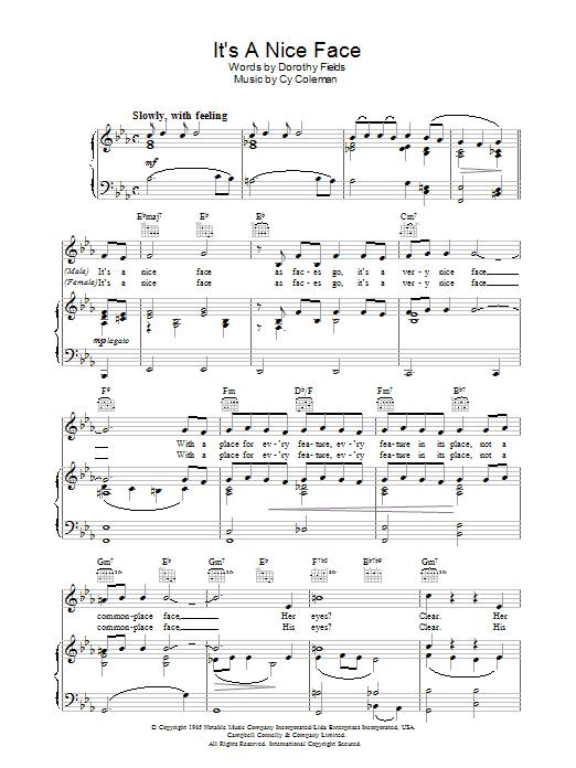 It's A Nice Face sheet music
