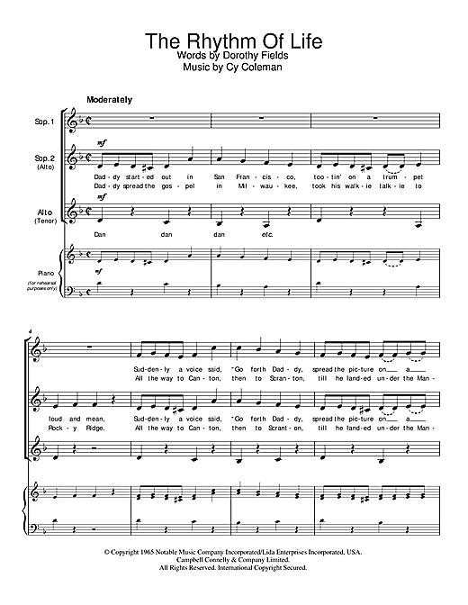 The Rhythm Of Life sheet music