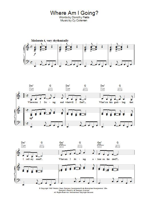Where Am I Going? sheet music